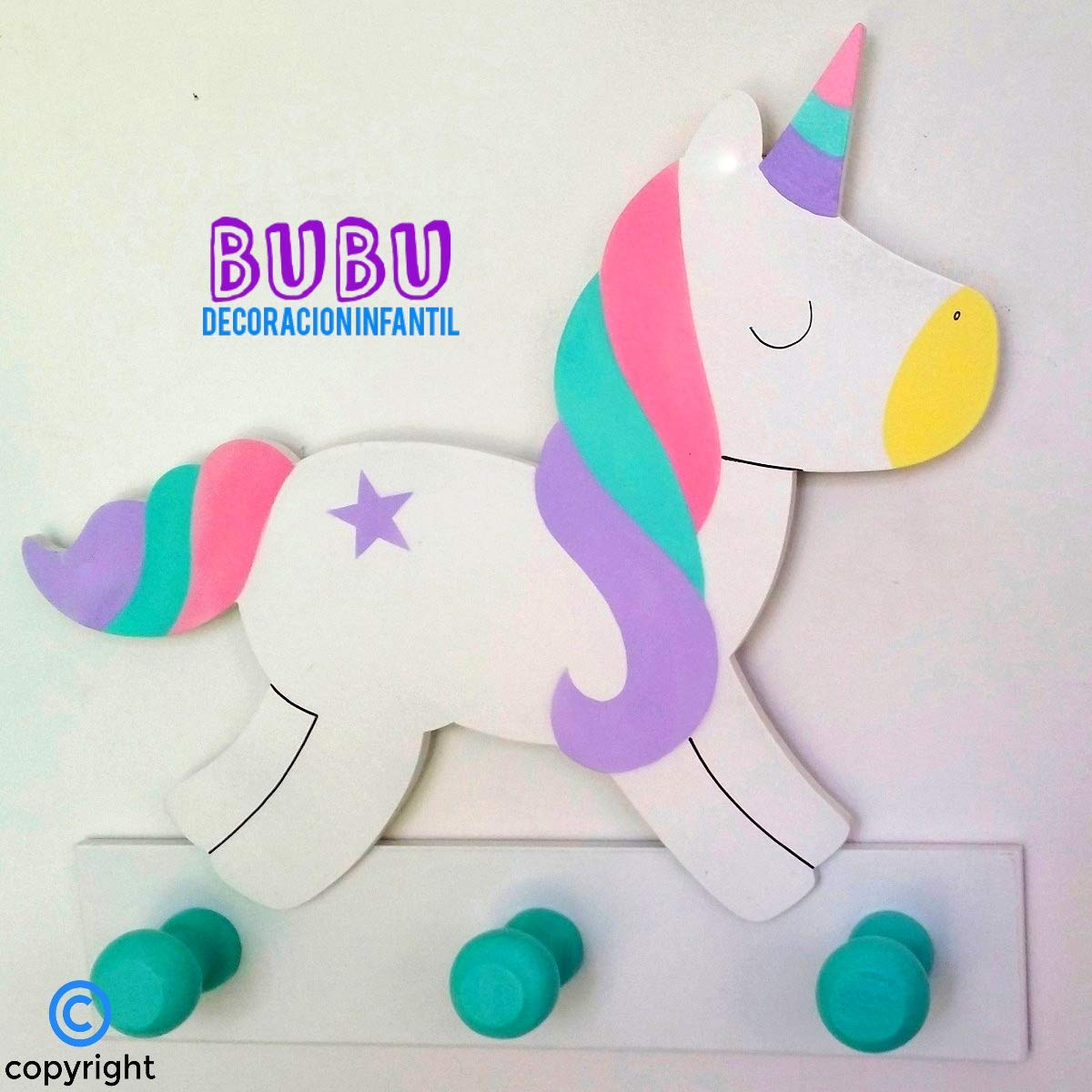 Perchero infantil de Unicornio: Amazon.es: Handmade