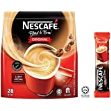 Nestle Malaysia 3 in 1 Nescafe Coffee Original Latte Hazelnut Caramel Regular Instant Coffee Rich Aroma Halal Drinks Teatime Breakfast (28 sachets) (28 Sticks) (Original)