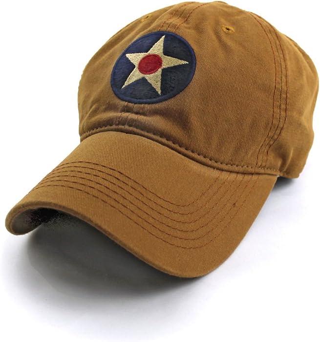 US Army Air Corps Insignia Ballcap, British Khaki