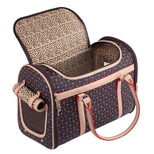 Pet Carrier Dog Bag Pomeranian Pug Chihuahua Puppy Cat Yorkie Discreet Travel Vet Tote 42x 23 x 30 cm (Chihuahua Travel Carrier)