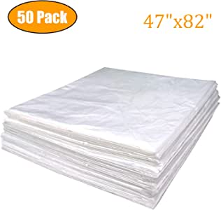 "METCRY Plastic Sheeting for Body Wrap Used Inside a Far Infrared Sauna Blanket 47""x82"" PVC (50 Pcs)"