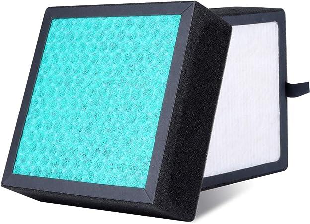 HQKJ Filtro purificador de aire丨Filtro de Repuesto HEPA Verdadero 4 en 1 de Alta eficiencia,Compatible con purificador de Aire, Elimina los olores y el 99.7% de Las partículas en el Aire.: Amazon.es: