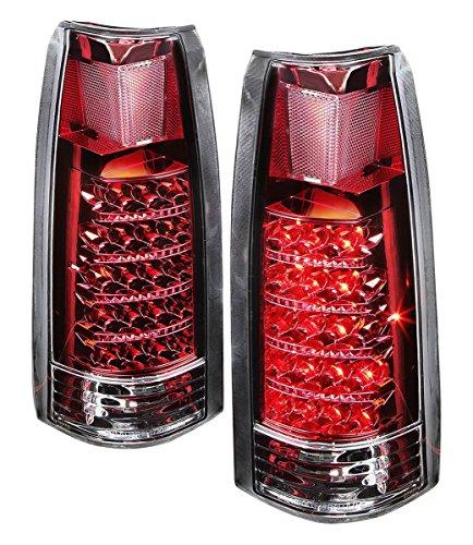 (DNA TL-C10-LED-CH-RD Chevy C/K Series Chrome Red Lens LED Tail Light)