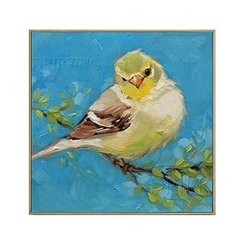 YDDFSGGFDSG Peint à la main petit animal Canary Bird huile sur toile ...