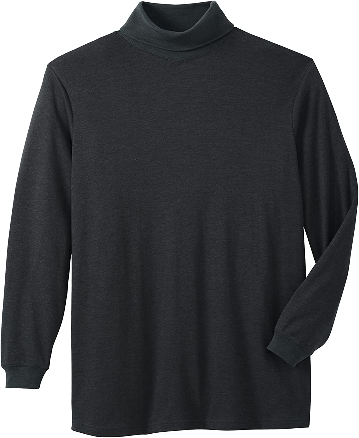 KQ/_ Mens Long Sleeves Acrylic Turtle Neck Turtleneck Sweater Stretch Jumpers Top