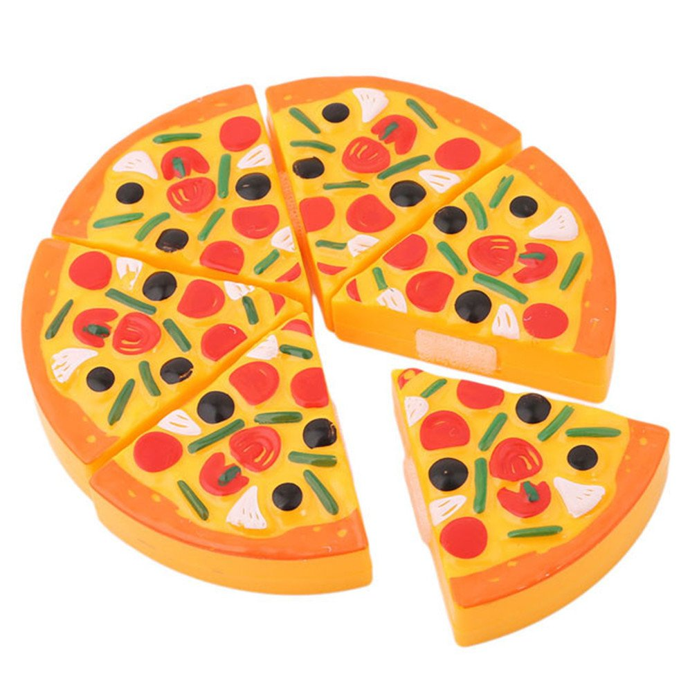 Dolland Pizza Party Fast Foodスライス料理とCutting Kitchen PlayセットToy for Kids   B077YQWB81