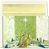 This 16 Pack of JAM Paper® Offering Gifts Christmas Holiday Greeting Cards is great for sending your best Christmas wishes to all of your friends and loved ones. Including 16 A& sized gold foil lined envelopes, this pack provides everything you n...