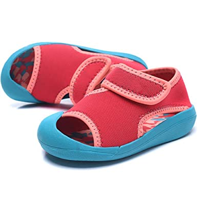 Kid Girls Summer Sandals,Close-Toe Outdoor Breathable Athletic Sandal