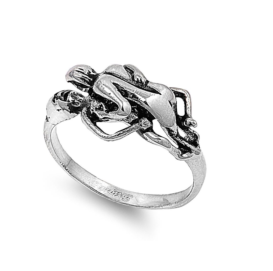 CloseoutWarehouse Stainless Steel Sex Ring Size 8