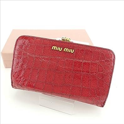 wholesale dealer 9203b d2e19 Amazon | ミュウミュウ miu miu 長財布 がま口財布 レディース ...
