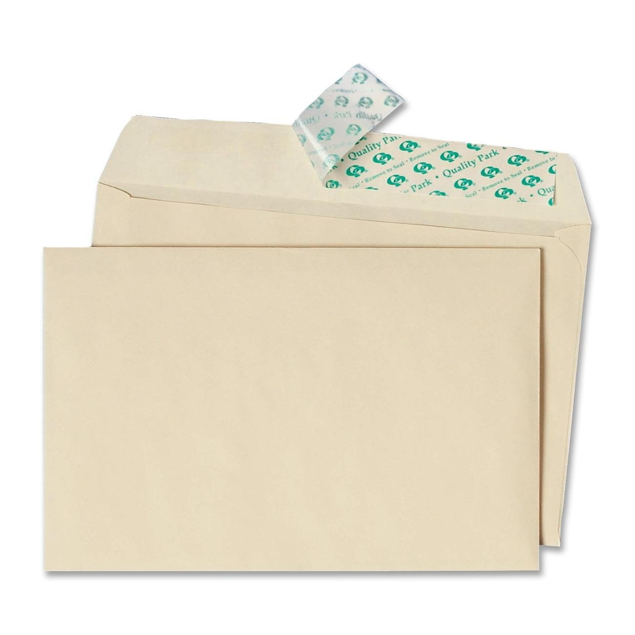 Quality Park Half-Fold Invitation Envelope 5.75 X 8.75 Inches Ivory Redi-Str.. 2