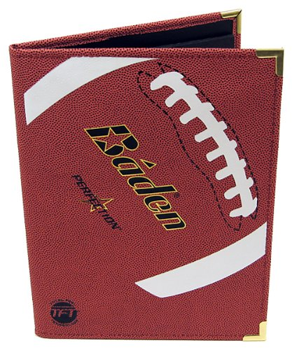 Baden Pebbled Football Notebook (Football Portfolio)