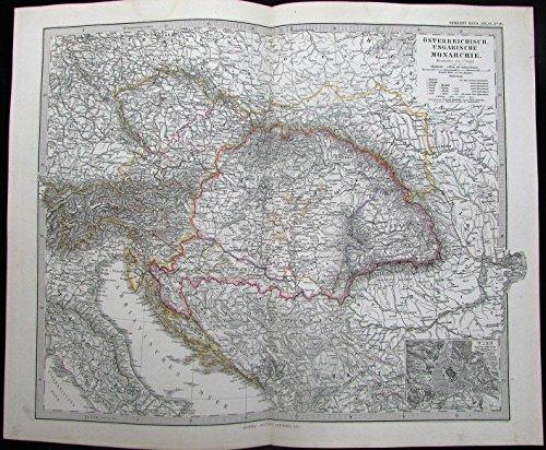 austria-hungary-vienna-inset-bohemia-bavaria-1871-detailed-antique-stieler-map