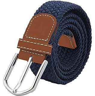 DonDon Cinturón trenzado extensible y elástico para hombres y mujeres de  100 cm a 130 cm f6fc5424a9a