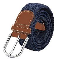 JTDEAL Cinturon elastico hombre, Cinturon Trenzado, Unisex Hombres Mujeres Casual Tejido, Hebilla Metal y Caja De Regalo Negra Elegante Como Regalo, Uso Diario Etc