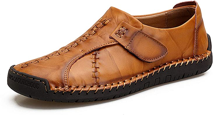 TQGOLD Mens Casual Leather Loafers