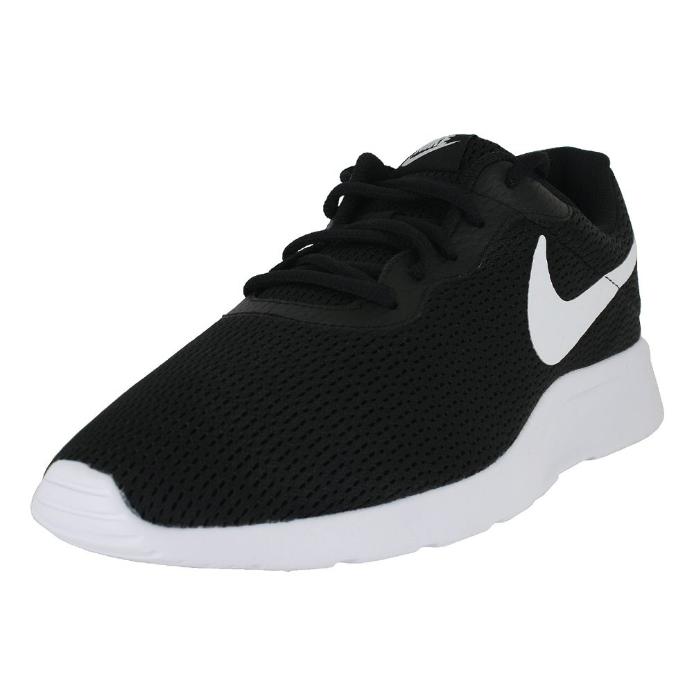 NIKE Men's Tanjun Sneakers, Breathable Textile Uppers and Comfortable Lightweight Cushioning 8 EEEE US|Black White Black