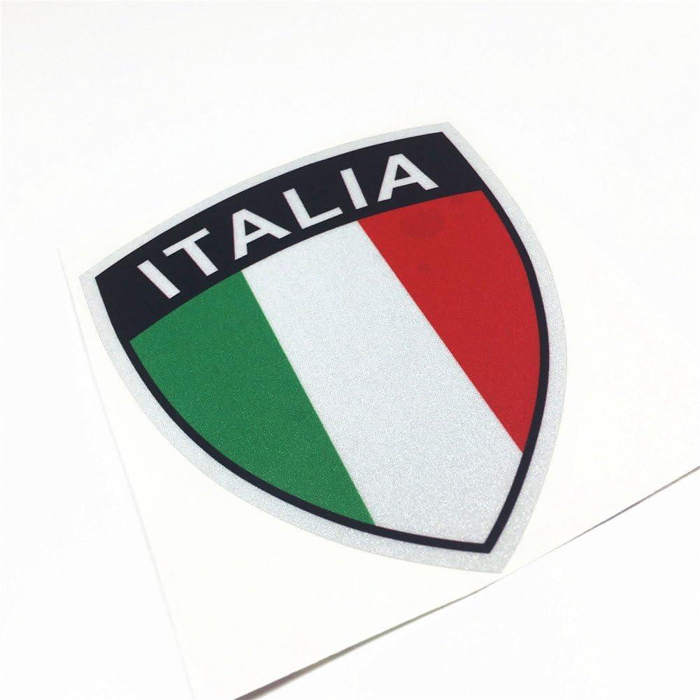 Stickers 3D Print Vespa Chrome Sticker for Piaggio Flag Italian
