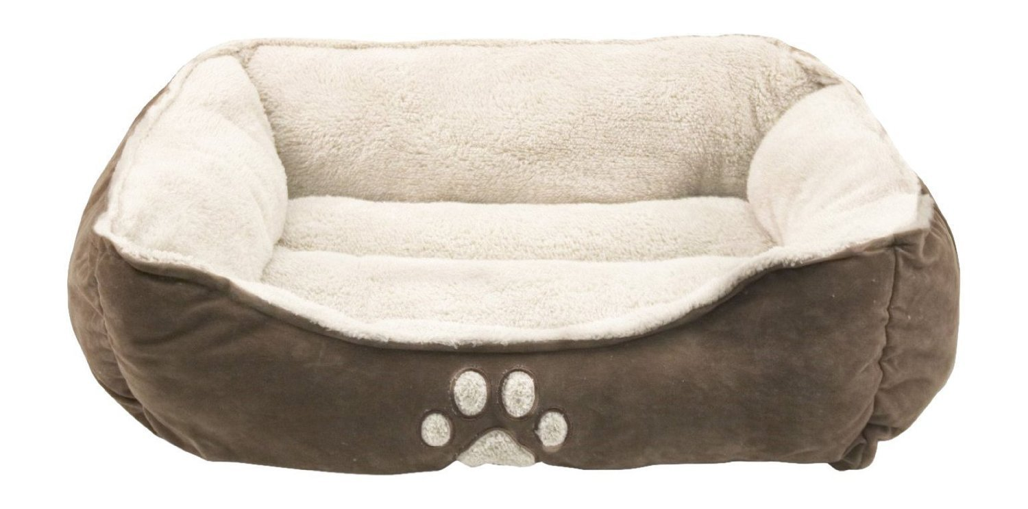 Sofantex Pet Bed – Fit Medium-Large Sized Dog Fat Cat, Machine Washable, Ultra Soft Pet Sofa – 25 Inches L, Dark Coffee