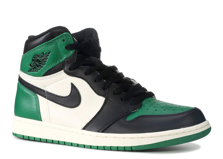 new style a9bbc 137c1 Amazon.com   Air Jordan 1 Retro High OG 555088 (8, Pine Green)   Basketball