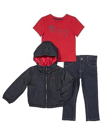 ef3ecd53e Amazon.com  Nautica Boys  Toddler Puffer Jacket
