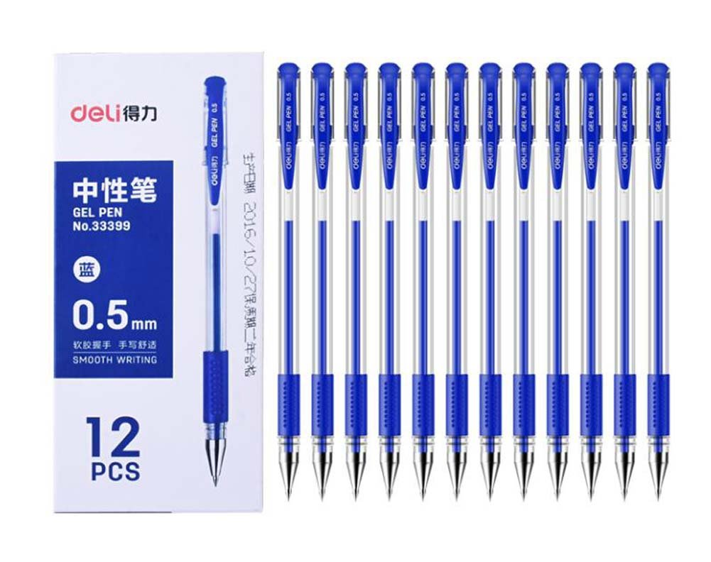 Penne a sfera per inchiostro blu da 0, 5 mm Set di 12 Black Temptation
