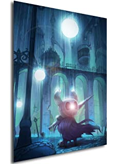 ,Wkh-390 Cuadros Decoracion Hollow Knight Map The Game Poster Decoraci/ón Pintura De The On Hd Canvas Canvas Painting Of Hallownest Poster Wall Art Canvas 50X70Cm