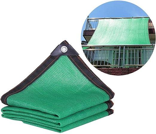 Sombra Solar Malla Jardín/Patio/Porche Al Aire Libre Cortina De Sun del Pabellón Verde, El 85% De Protección UV Paño De La Cortina, Fácil Configuración Cubierta del Acoplamiento con Arandelas: Amazon.es: Hogar