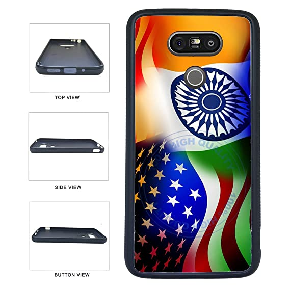 new style cdca5 1c021 Amazon.com: BleuReign(TM) India And Usa Mixed Flag TPU RUBBER ...