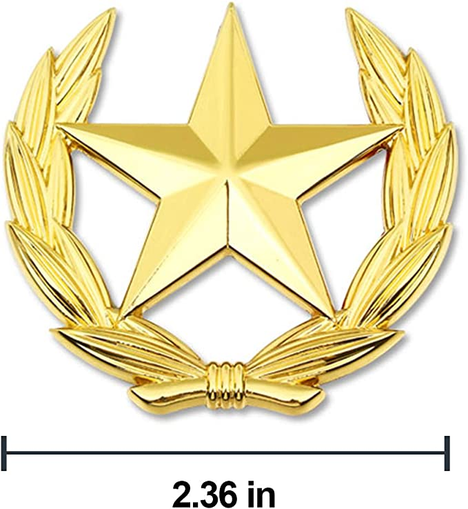 pentagram stickers for all car models wesport 2 pcs 3D metal pentagram logo badge stickers car trunk lid logo gold