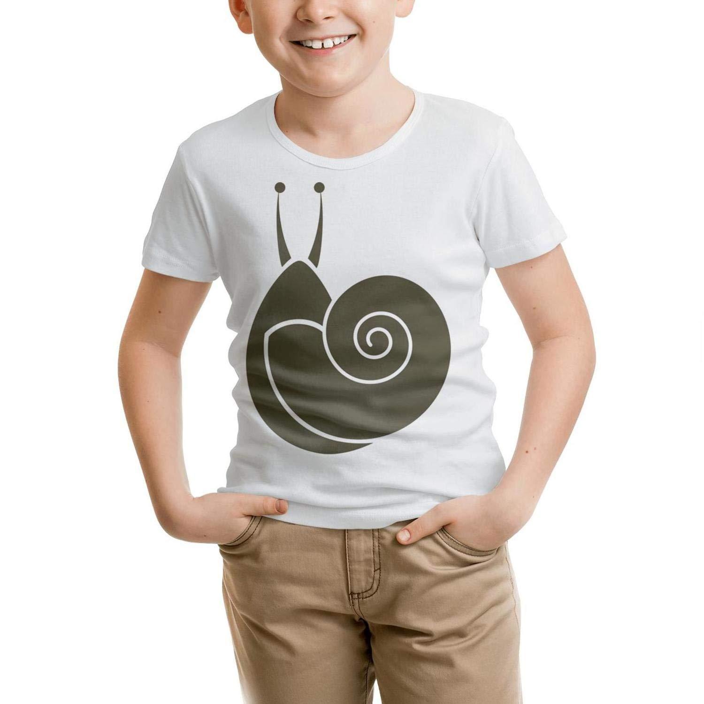 Websi Wihey Brown Snail Volution Shape Fashion Boys Short Sleeve t Shirt Teenagers