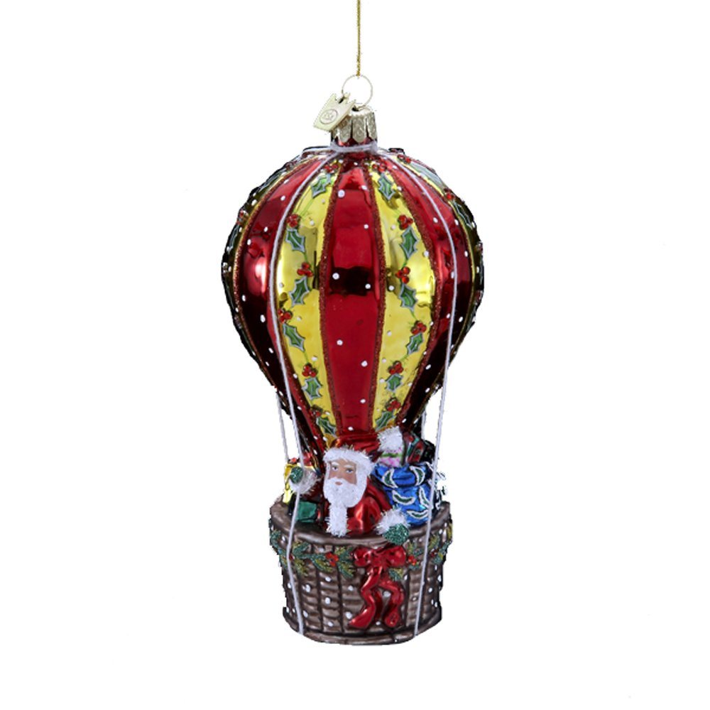 Amazon.com: Kurt Adler 5-1/2-Inch Noble Gems Glass Santa in Hot ...