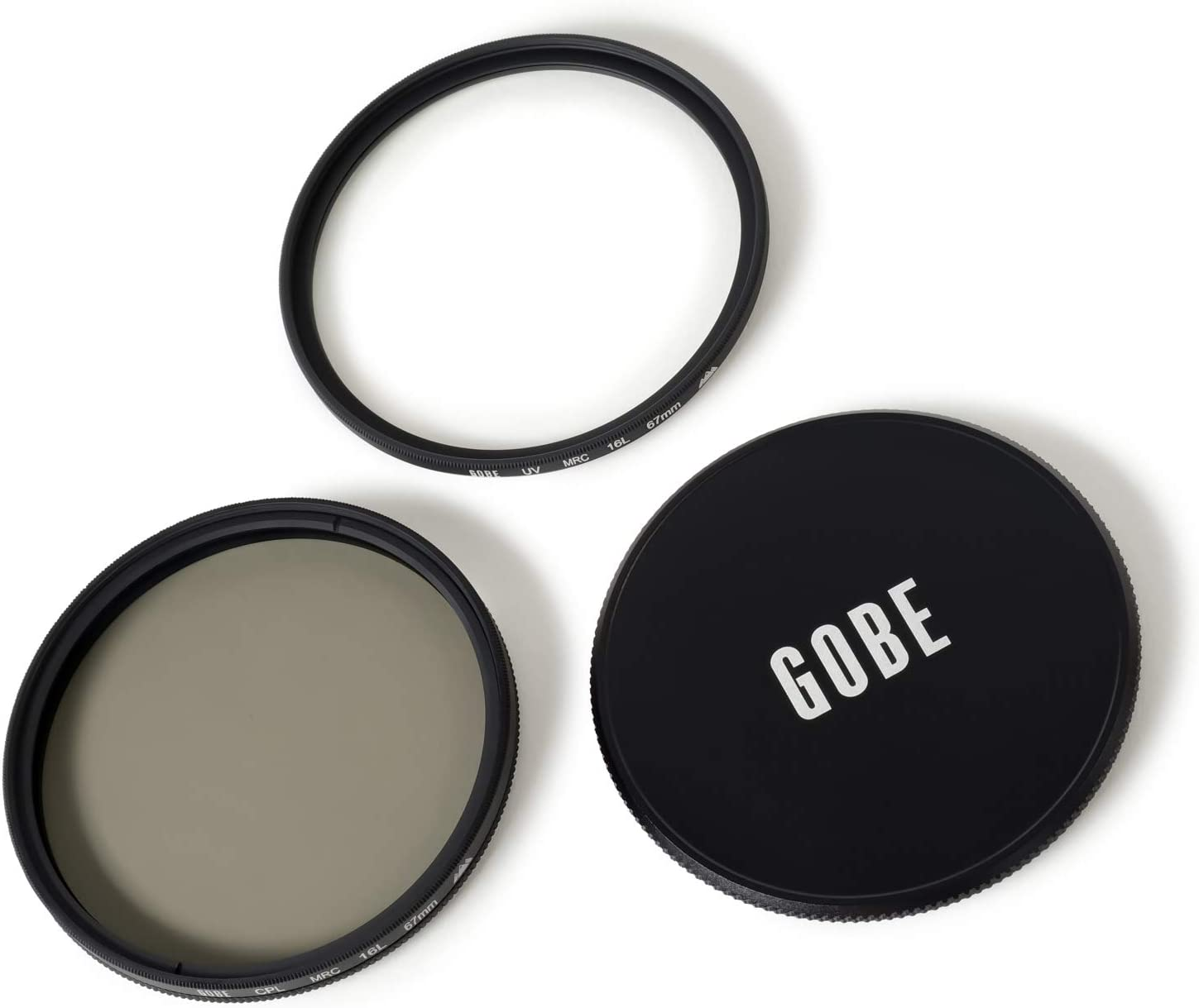 Gobe 67mm UV Circular Polarizing CPL 3Peak Lens Filter Kit