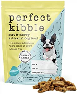 Yumwoof Perfect Kibble - Soft Dry Dog Food for Puppies and Adult Dogs | All Life Stages & Small Breeds | Gluten Free | Made with Fresh Chicken and Coconut Oil