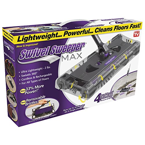 Ontel SWSMAX Swivel Sweeper, Purple