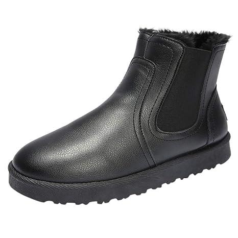 LuckyGirls Botas de Nieve Vintage Forrada De Piel Zapatos Botines Calzado Zapatillas para Hombre