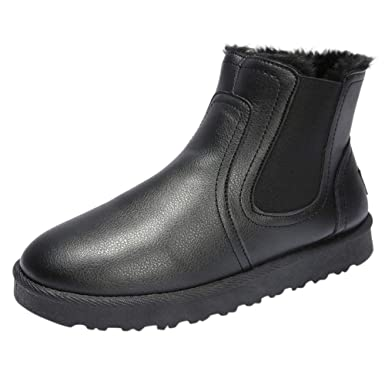 ab04bc9bc72d Amazon.com: DENER❤ Men Winter Leather Combat Boots,Steel Toe Slip ...