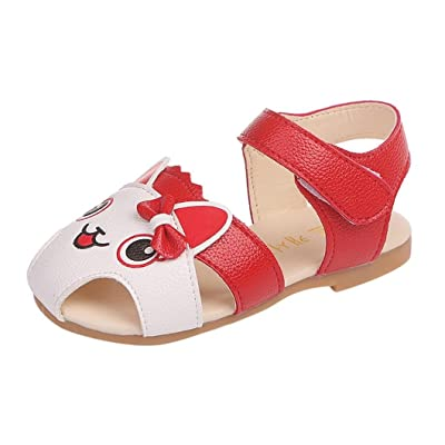 7ed4d84f8 Lanhui Summer Baby Kids Sandals Girl Cat Cartoon Bowknot Child Slippers  Beach