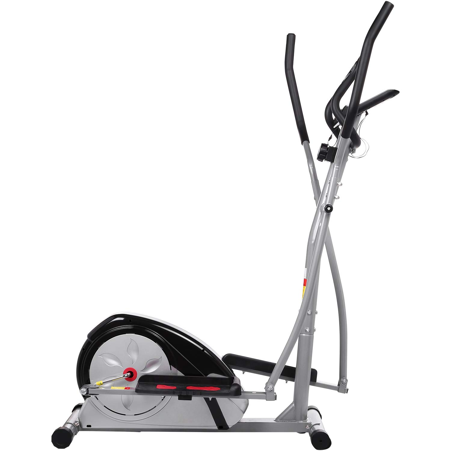 Fast 88 Portable Elliptical Machine Fitness Workout Cardio Training Machine, Magnetic Control Mute Elliptical Trainer with LCD Monitor,Top Levels Elliptical Machine Trainer (Grey) by Fast 88 (Image #4)
