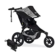 BOB Revolution Flex Jogging Stroller, Lunar with Handlebar Console and Tire Pump