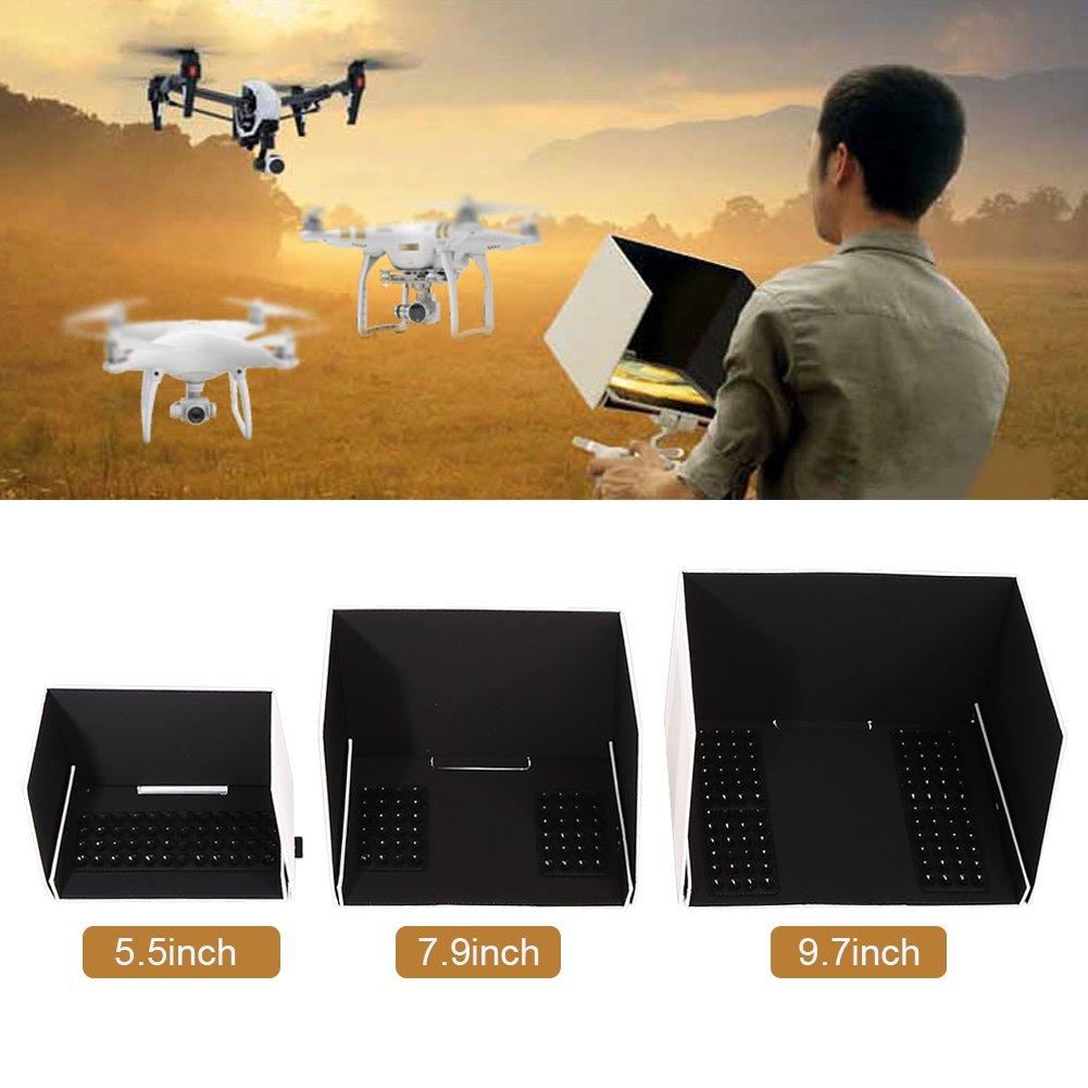 9.7 Moniteur Sun Hood Pare-soleil T/él/écommande Drone T/él/éphone iPad Couverture pour DJI Phantom 2//3//4