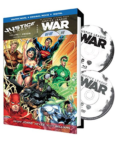 Justice League: War w/Justice League Vol. 1 (New 52) Graphic Novel(Blu-ray/DVD/UV)