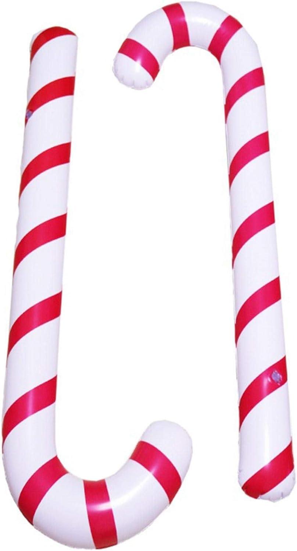 Spazierstock Wanderstock Weihnachten Zuckerstange Kr/ücke Weihnachtsfeier Dekoration Kost/ümzubeh/ör Aufblasbar Weihnachten Zuckerstange Aufblasbarer Zuckerstange