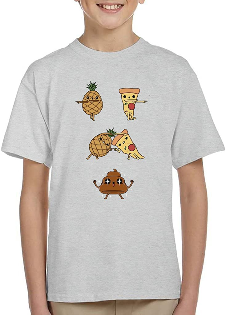 Cloud City 7 Tropical Fusion Pinapple Pizza To Poo Dragon Ball Z Kid's T-Shirt