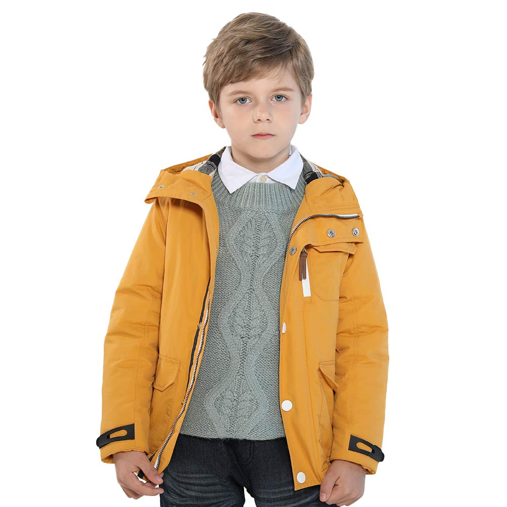SOLOCOTE Boys Winter Coat 3-12Y Hooded and Cotton Jacket