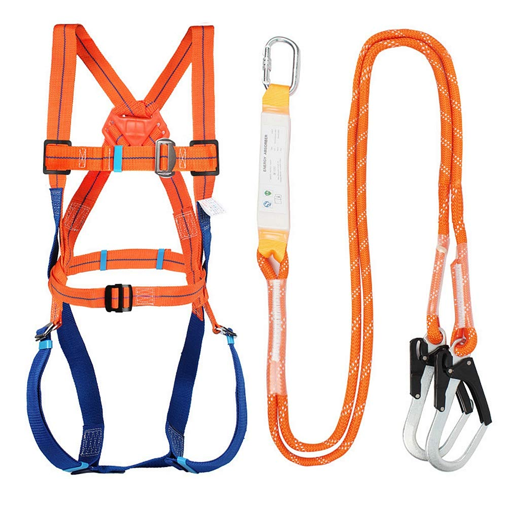 Full Body Safety Harness Tool Fall Protection with 5D-Rings and Waist Belt,Universal Personal Protective Equipment (A) by GLOROUSCHU