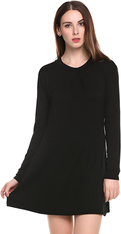 UNibelle Loose Fit Tunic Top High Neck Longsleeve Pleats Plus Size
