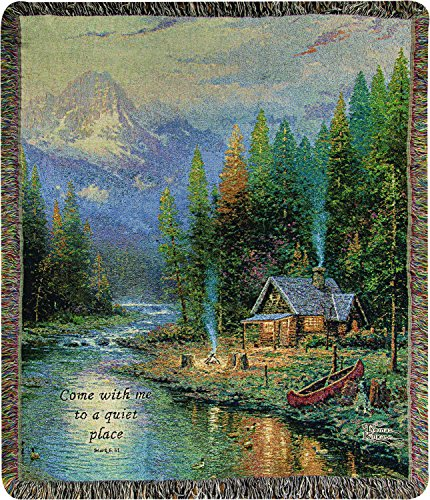 Tapestry Throw, Thomas Kinkade End of a Perfect Day