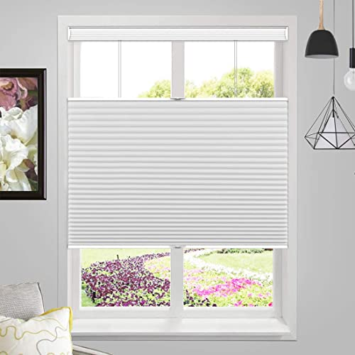 MiLin Cordless Blackout Cellular Honeycomb Shades Top Down Bottom Up