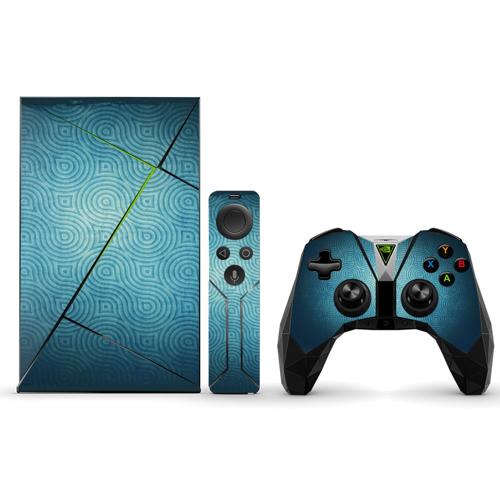 MightySkins Protective Vinyl Skin Decal for NVIDIA Shield TV wrap Cover Sticker Skins Blue Swirls by MightySkins (Image #1)
